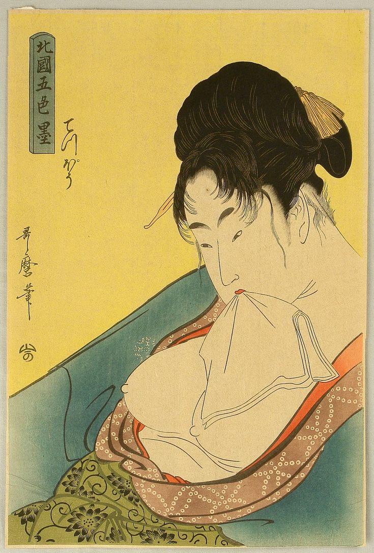 Erotic japanese print