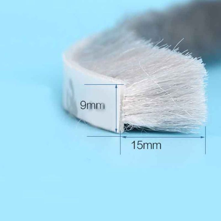 9mm x 15mm self adhesive aluminium window door draught excluder brush sealing tape weather strip