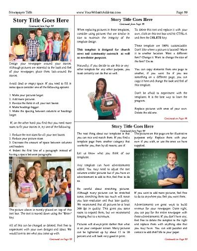 17 best School Newspaper Templates images on Pinterest Role - newspaper templates for kids
