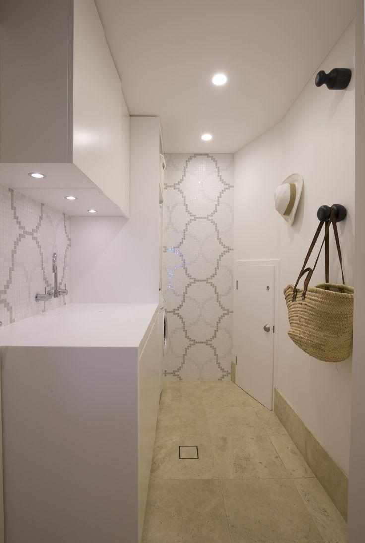 Bisazza tiled Laundry. Brooke Aitken Design