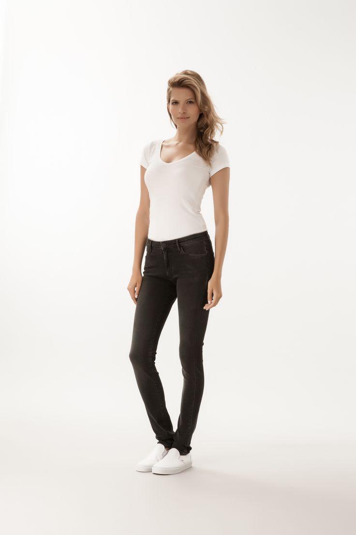 Alan / High Waist Skinny Fit  #denim #CrossJeans