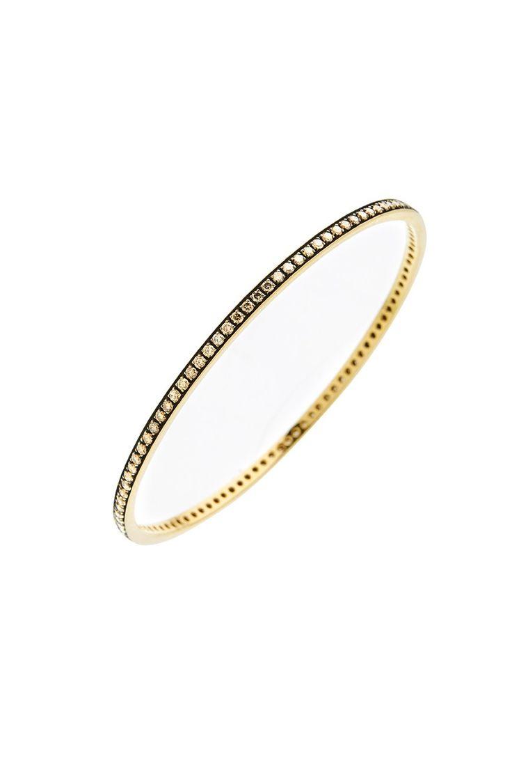 Gold K18 Brown Diamonds