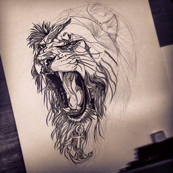 abdee49993516f81cdabb50f28b76394 lion illustration lion tattoo