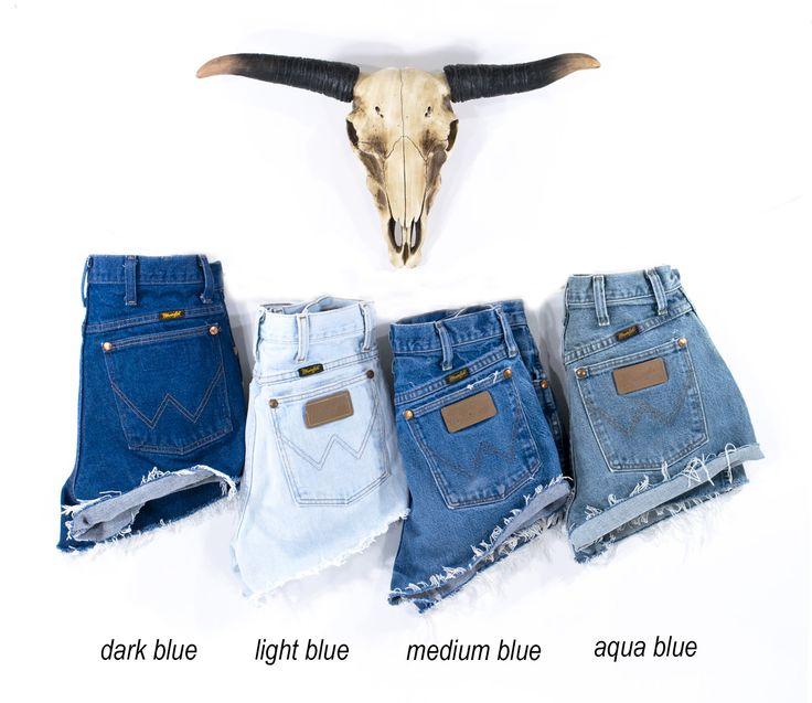 Vintage WRANGLER Shorts Jeans Highwaist Cutoffs Jeansshorts   – fashion