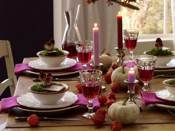 Great Purple Thanksgiving Table Decorations - Top Dreamer