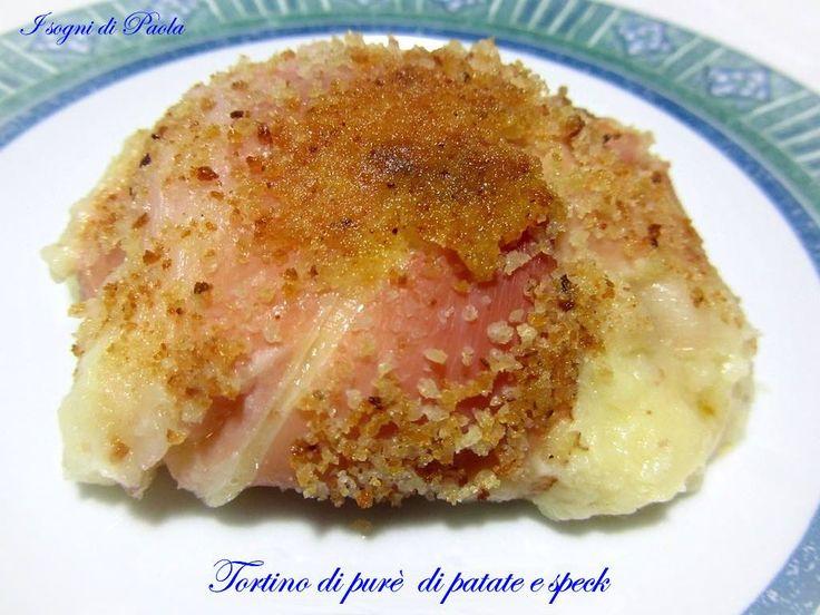 Tortino di purè di patate e speck