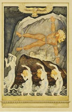 Prometheus. 1909 Kupka's facination. Son of Tian, Atlas brother He stole  fire of vulcanus because he had pity with the people on the globe who had no heat, light and cooking possibilities, Man could now turn metal and develop a technical civilization. As a punishment for raising the people and theft, Zeus fastened Prometheus to a rock at the sea and the giant eagle Ethon ate daily the liver from Prometus's body, which grew again. This was ment forever, but Prometus was liberated by…