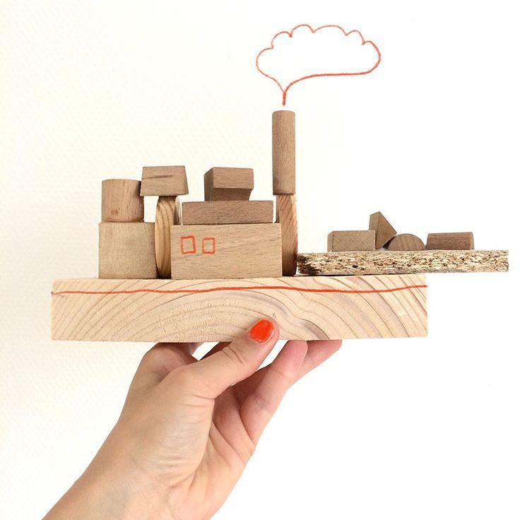 scrapwood boat diy kids - Blog by Dutch illustrator and designer Kim Welling.