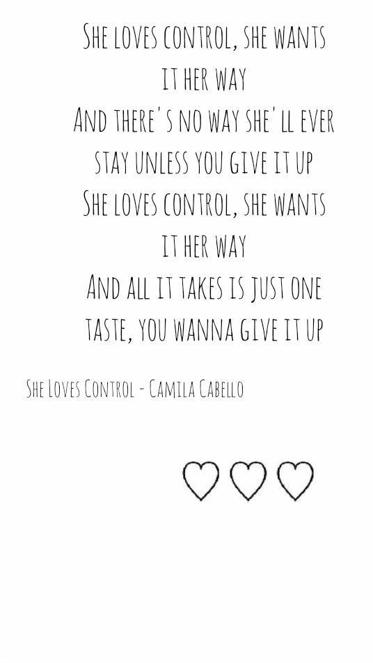 She Loves Control Camila Cabello Wallpaper Citações De