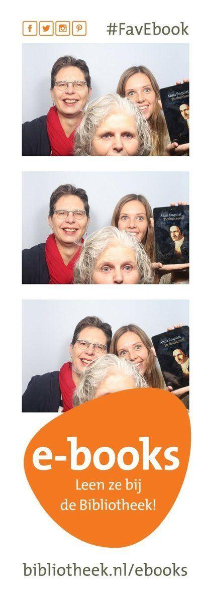 Je kunt zelfs met z'n drietjes en je #FavEbook op de foto. Het #FavEbook is overigens 'De thuiskomst', van Anna Enquist.