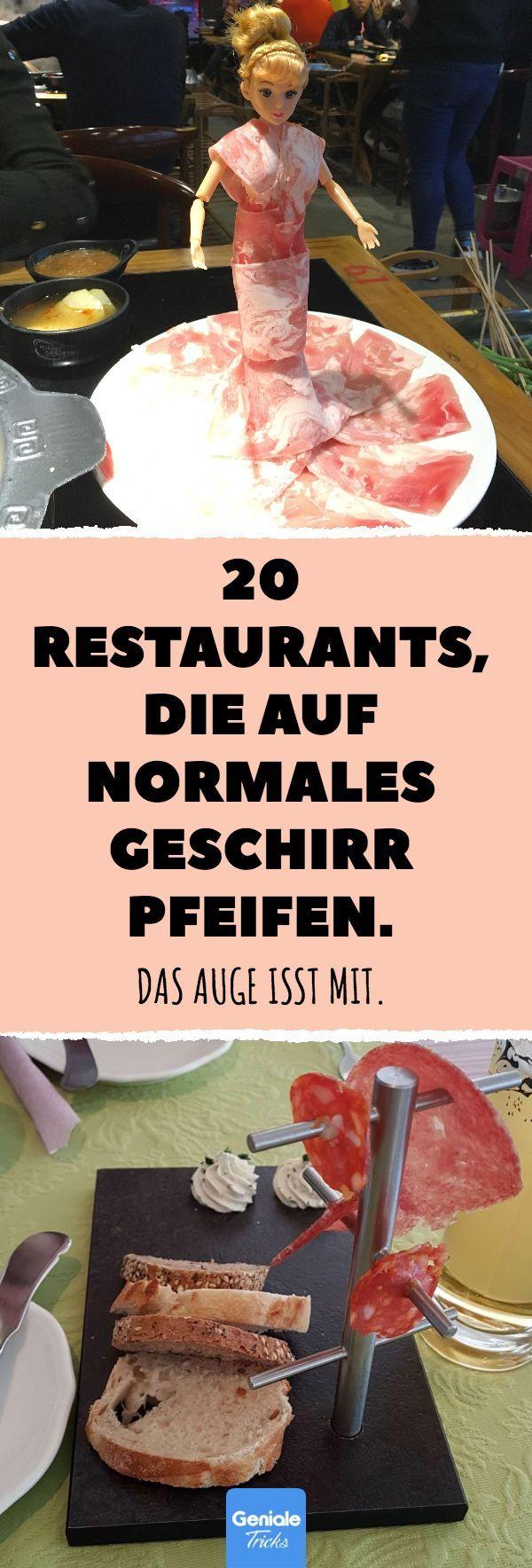 20 Restaurants, die auf normales Geschirr pfeifen