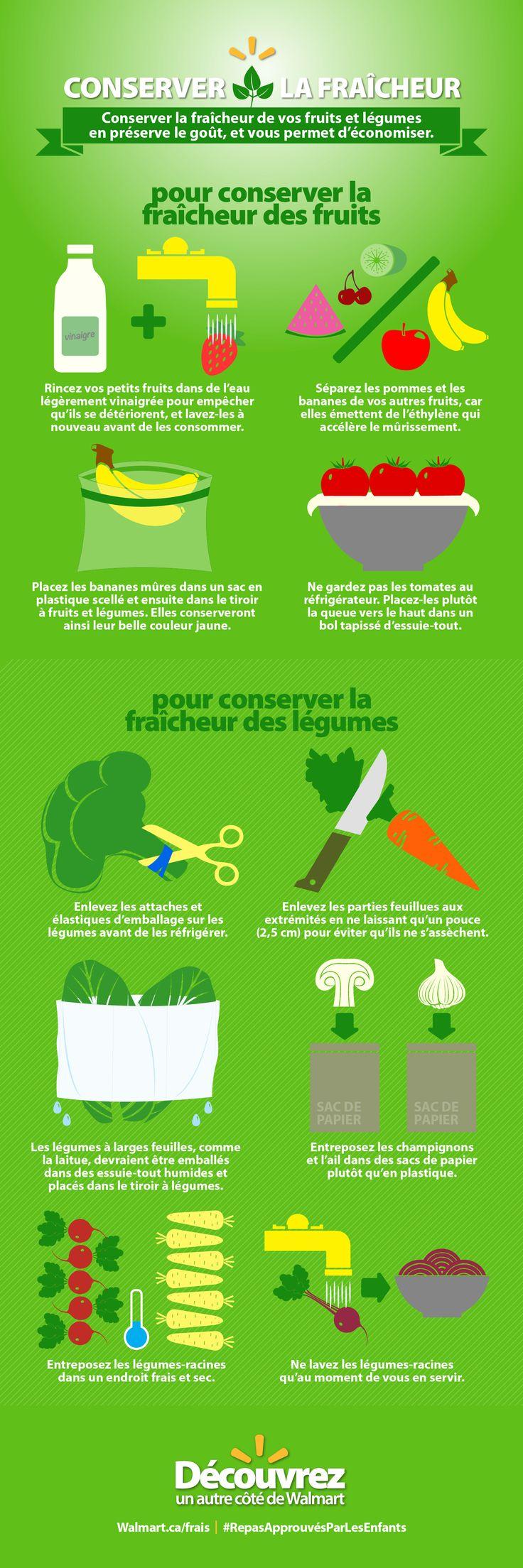 Apprenez à ranger correctement vos fruits et légumes. Vous économiserez et vos repas auront meilleur goût. #RepasApprouvésParLesEnfants
