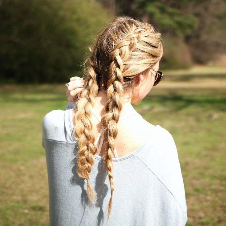 Two dutch braids, boxer braids, cornrows, there's …