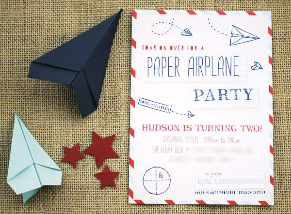 Vintage Inspired Paper Airplane Party