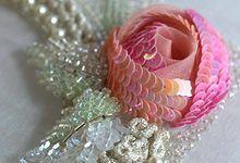 rosas de alta costura bordados tridimensionales