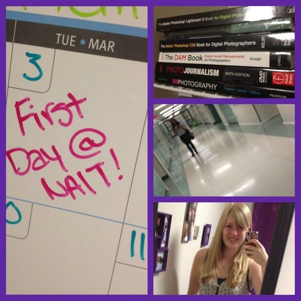#NAITbacktoschool contest entry by @dani_larsen. Caption: 'Survived the first day of school! Yay!' #NAIT