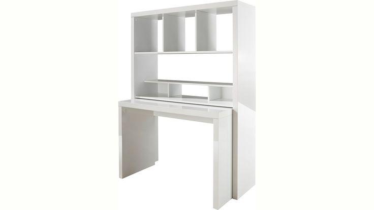Bürowand, HMW, »Danzig«, mit ausziehbarem Schreibtisch | Naturloft