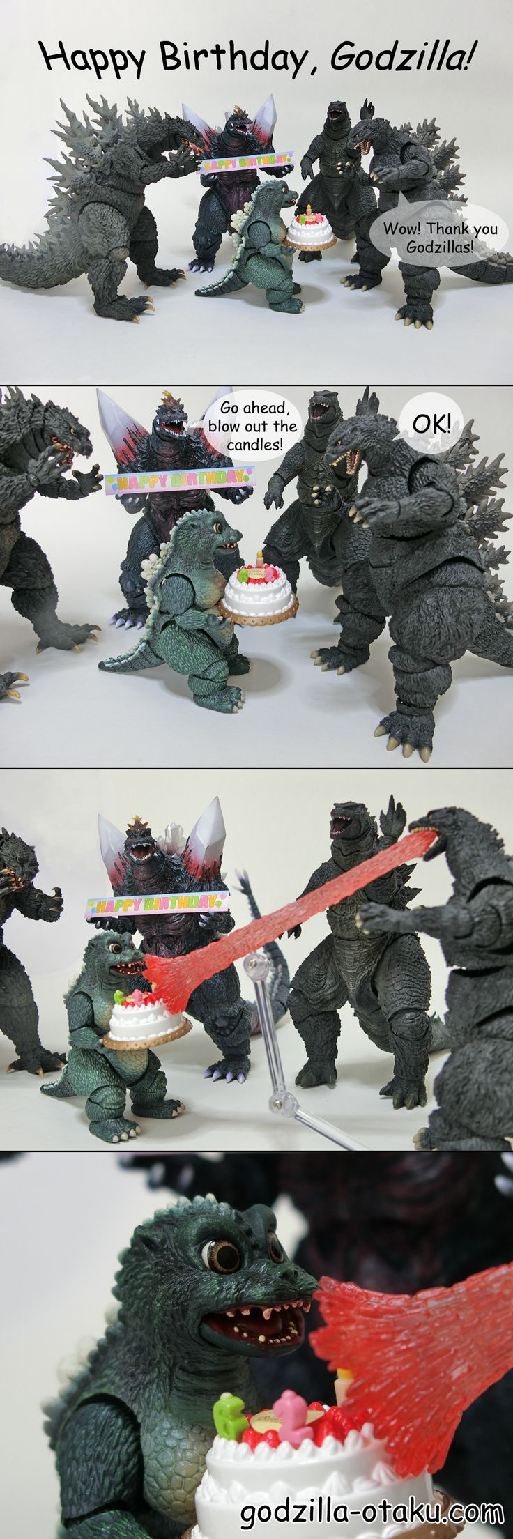 Happy Birthday Godzilla! This is a comic I made for celebrating Godzilla's 62nd birthday