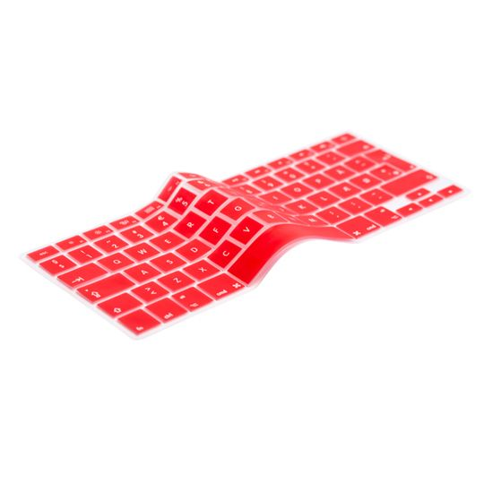 English Red Keyboard Cover Prolongs the life of your MacBook. Protects your keyboard against dirt, liquids, dust etc. The thinnest and most precise keyboard protection cover.