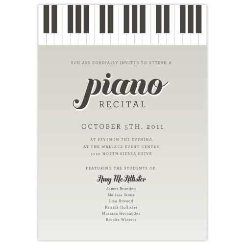 15 best piano recital images on pinterest birthdays index cards image of keyboard piano recital 10 for piano recital pronofoot35fo Image collections