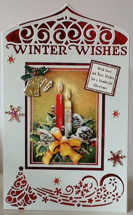 Christmas card tonic header dies and decoupage