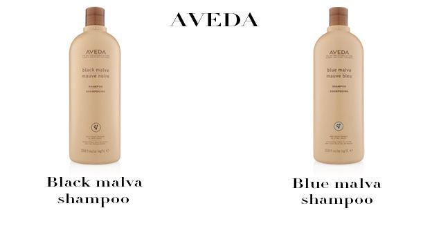 AVEDA BLACK MALVA SHAMPOO - Porta alla luce toni freddi e intensi nelle tonalità scure naturali e tinte. Contiene aloe coltivata biologicamente , tè nero e malva nera ricca di emollienti, raccolta in modo sostenibile a mano nel suo habitat naturale. AVEDA BLUE MALVA SHAMPOO - Dona una brillantezza argentea ai capelli grigi, e neutralizza i danni dei capelli trattati chimicamente. Contiene Blue Malva raccolta a mano nel suo habitat naturale in modo ecostenibile, e Coneflower, capace di…