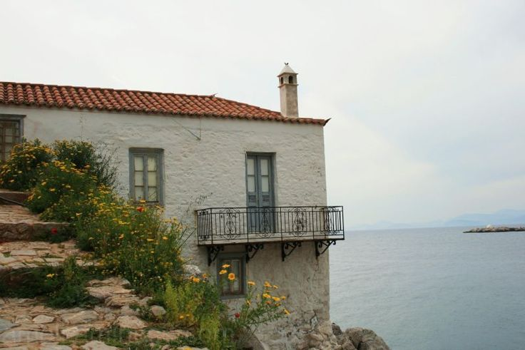 House on the edge, Hydra, Greece by Ameli