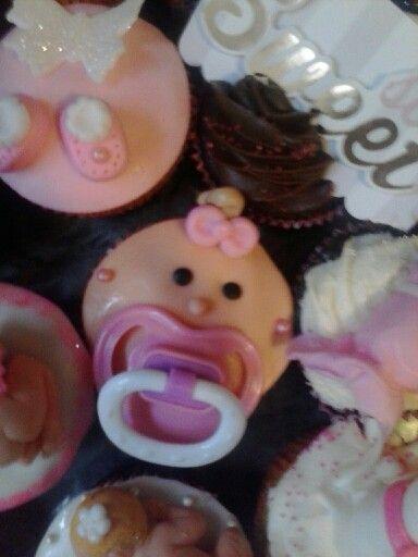 babyface pacifier cupcake