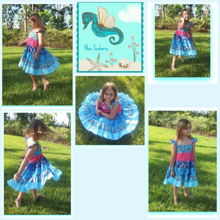 Patchwork twirl dress.