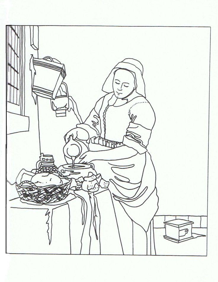 88 best images about galeria de arte on pinterest keith - La lechera de vermeer ...