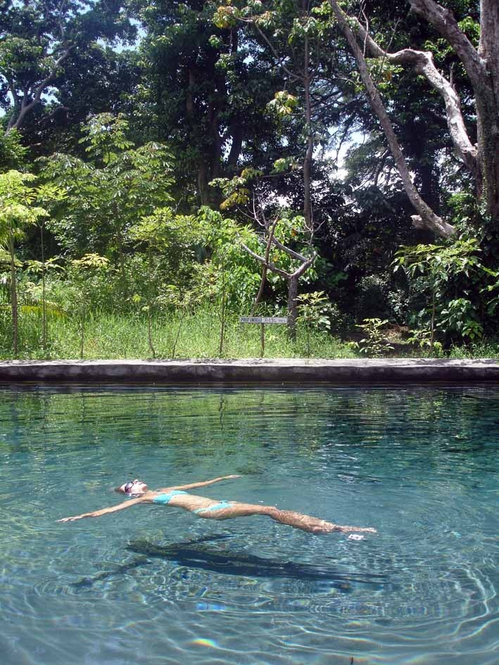 Ojo de agua is a crystal clear pool of natural mineral water located on Ometepe Island in Nicaragua.  It is a must see and swim!