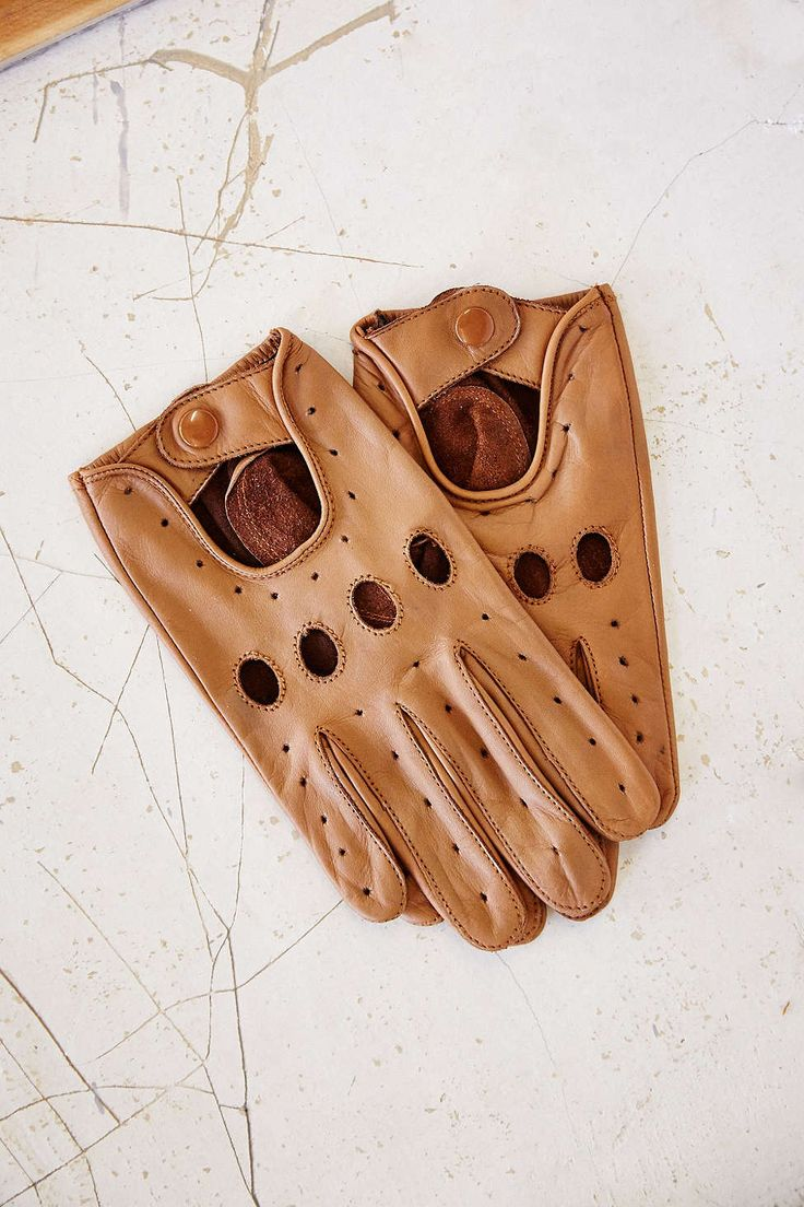 Mens driving gloves nordstroms - Profound Aesthetic Leather Full Driving Glove Urban Outfitters