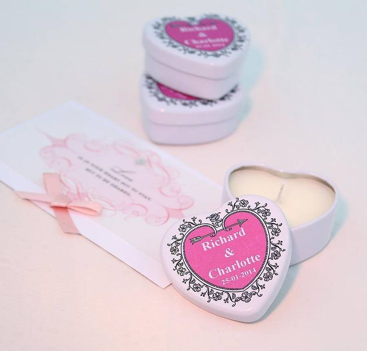 personalised scented candle wedding favours by hearth & heritage scented candles | notonthehighstreet.com