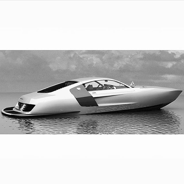 Audi R8 inspired concept powerboat designed with gullwing doors and a top speed of 110 mph / 177kmh  All credits to the photographer #audi #audir8 #r8 #conceptboats #powerboat #speedboat #speed #style #mrsuperyachts