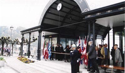 Bellagio, 6 April 2002 : official inauguration of the new pier in Piazza Mazzini