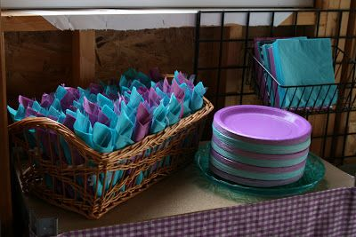 Frozen Party - Paper Products - Turquoise Lavender