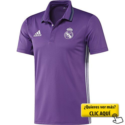 adidas Real Madrid Cf Cl Polo, Hombre, Morado /... #real #madrid