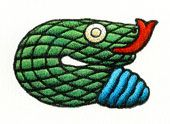 Aztec 5. SNAKE  • Quality: Meditation • A day... for seeking truth and wisdom • Daysign Deity: Water Goddess Chalchiuhtlicue • Body Association: Privates (M) • Direction: East • Influence: Good • Special: ---