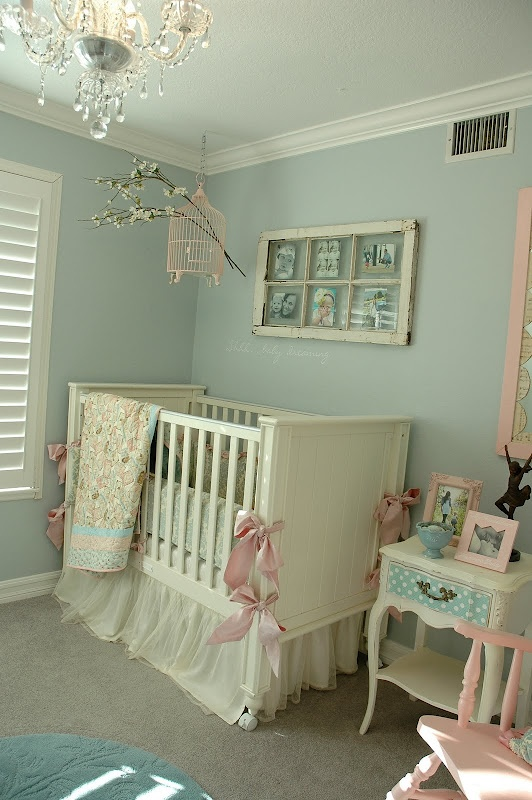 i like the window/picture frame by the crib. THE SWEETEST BABY ROOM EVER!!!!