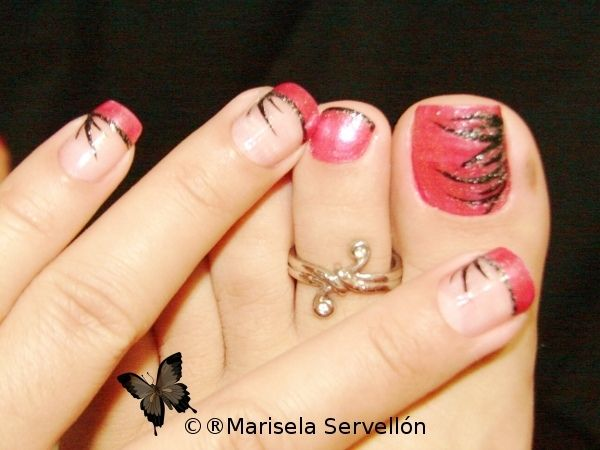 My Toenails! by Marisela - Nail Art Gallery nailartgallery.nailsmag.com by Nails Magazine www.nailsmag.com #nailart