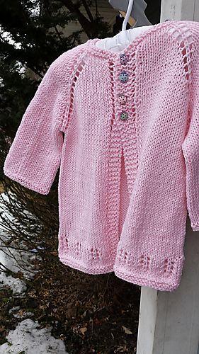 Little Ava Knit Cardi free pattern by Taiga Hilliard Designs