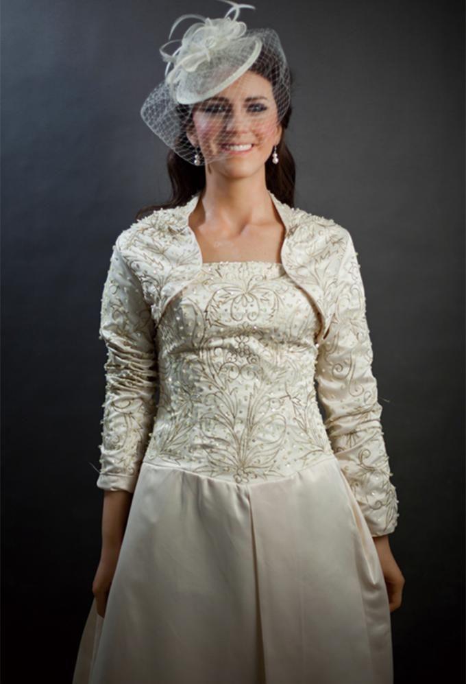 Handmade Resin Woman Celebrity Wax Statues / Kate Middleton Wax Figure