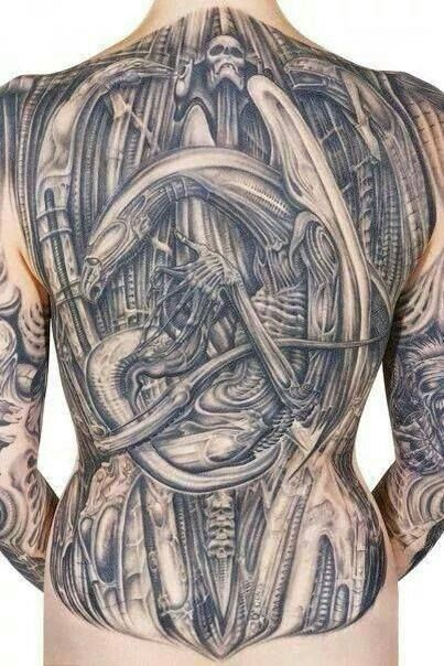 H.R. Giger tattoo -- -- Tattoos by Adam Collins -- New ...