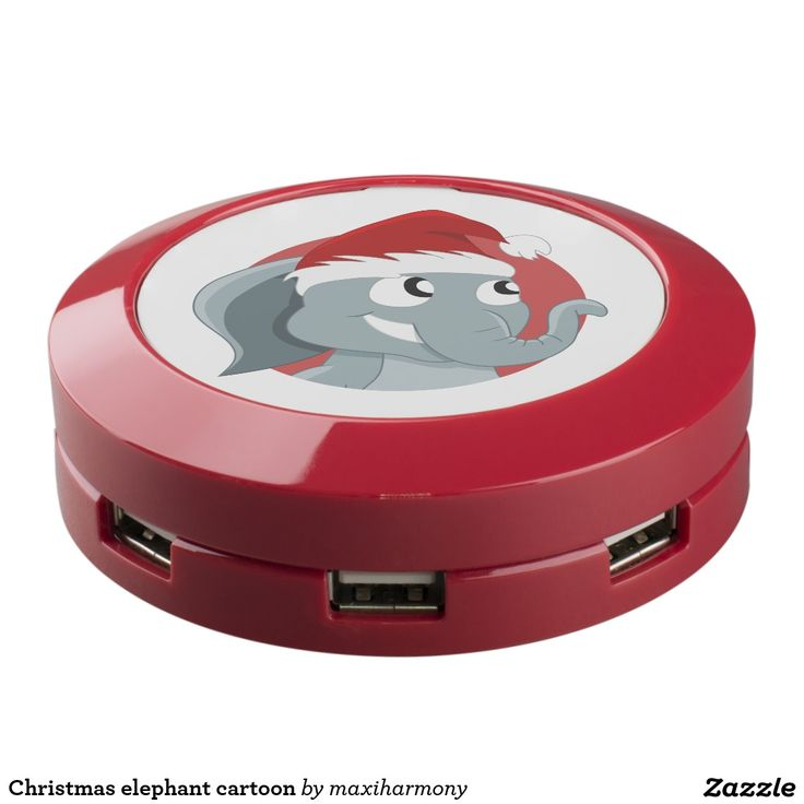 Christmas elephant cartoon USB charging station