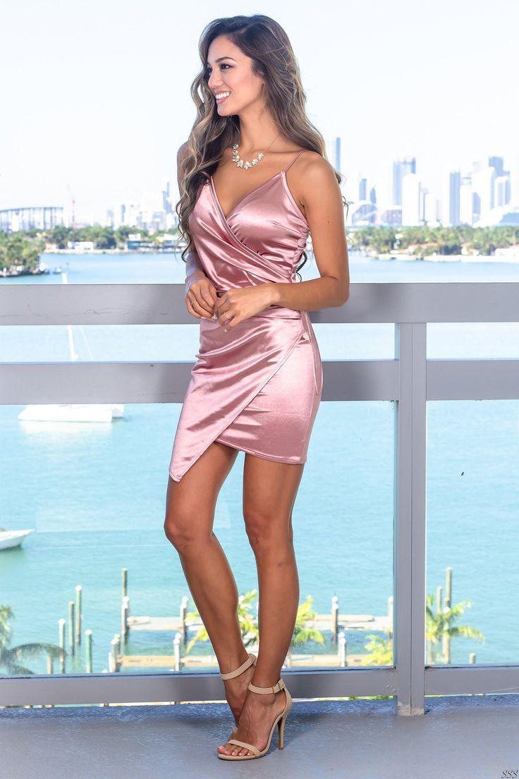 Every Day of the Week and Twice on Sundays in 2019 | Short dresses, Dresses, Pink satin dress