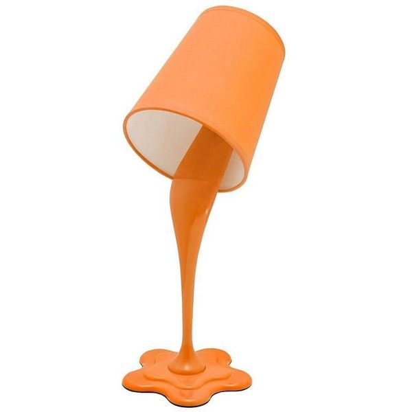 Lumisource Woopsy Orange Desk Lamp (399.165 IDR) ❤ liked on Polyvore featuring home, lighting, desk lamps, fillers, lamps, decor, orange, lumisource, orange lamp and orange desk lamp