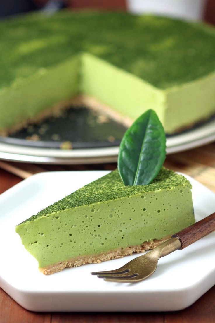 A creamy Vegan Matcha Mousse Cake with an airy, whipped texture flavored with the complex taste of Japanese matcha green tea powder. http://teapausenow.com/all-about-tea/