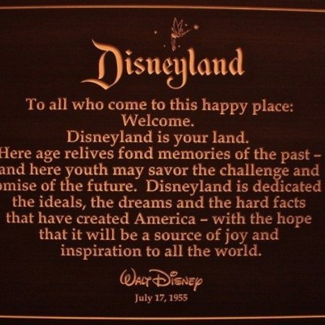 Good Opening Quotes For Speeches: Walt Disney's Opening Day Speech At Disneyland On July 17