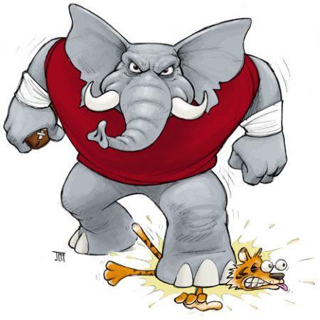 University of Alabama Clip Art | Big Al Stomp! | Jaggedsmile