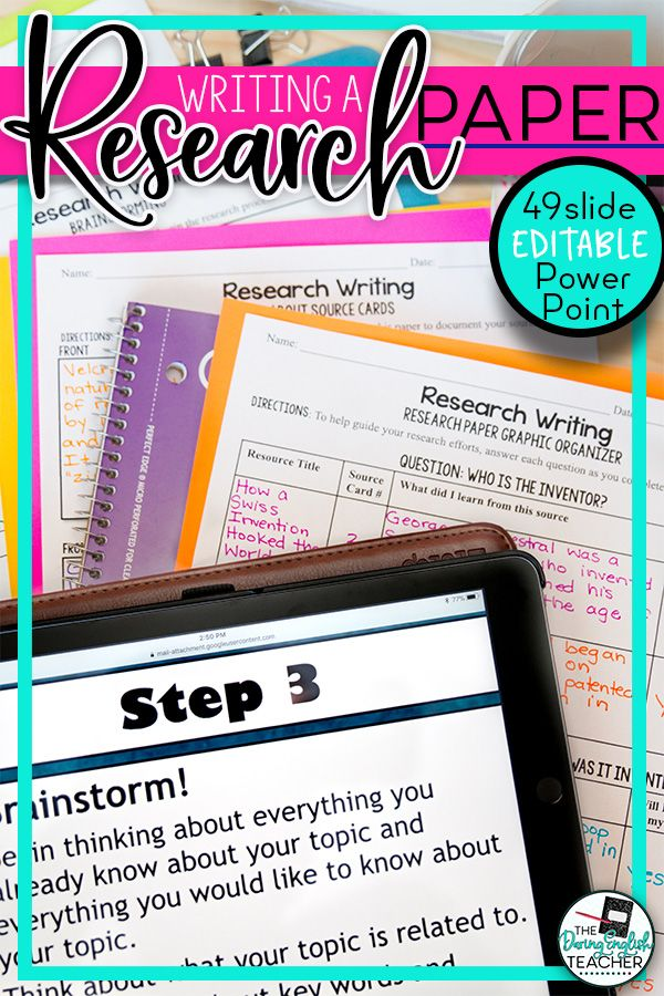 Research Paper Writing PowerPoint, Resources, MLA Format My TpT